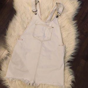 Zara white washed distressed denim-ware jumper